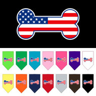 Bone Flag American Screen Print Dog Bandana