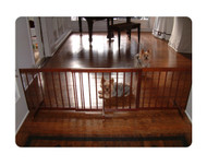 Step Over Gate Extension for Dog Gates - Walnut
