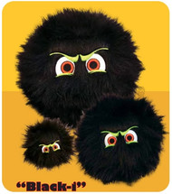 iBalls: Medium Black-I Dog Toy
