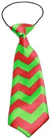 Big Dog Christmas Chevron Neck Tie