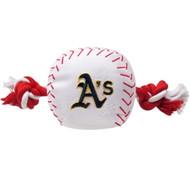 Oakland Athletics Baseball Rope Dog Toy