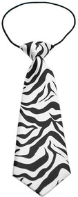 Zebra Dog Neck Tie
