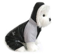 """Ruffin It"" Black and Grey Two Tone Dog Snow Suit"