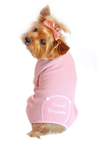 Pink Sweet Dreams Dog Pajamas