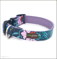 Bouquet Laminated Cotton Dog Collar