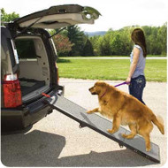 Portable Full Length Tri-Fold Pet Ramp - Grey / Black