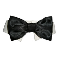 Black Satin Dog Bow Tie