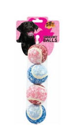 Small Tennis Ball 4 pk- Flower Dog Toy