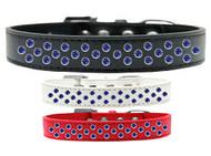 Rim-Set Blue Crystal Dog Collar