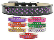 Metallic Collar with Rim-Set Purple Crystals