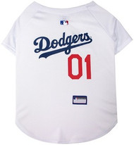 LA Dodgers Baseball Dog Jersey