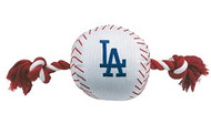 LA Dodgers Nylon Baseball Rope Dog Toy