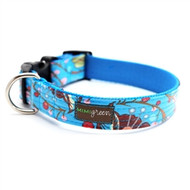 Bloom Laminated Cotton Dog Collars and Leashes