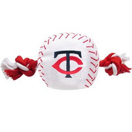 Minnesota Twins Nylon Baseball Rope Dog Toy