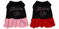 Rhinestone Birthday Girl Dog Dress