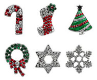 Holiday Slider Dog Charms - 10mm