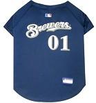 Milwaukee Brewers Baseball Dog Jersey