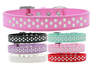 Rim-Set Faux Pearl Dog Collar