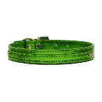 Emerald Green Metallic Two Tier Dog Collar