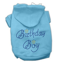 Rhinestone Birthday Boy Dog Hoodie- 6 Color Options
