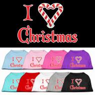 I Heart Christmas Dog Shirt (Candy Canes)