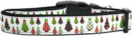 Designer Christmas Trees Dog Collar