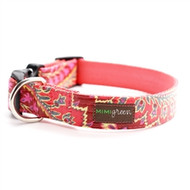 Sweet Pea Laminated Cotton Dog Collars and Leashes