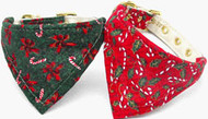 Candy Cane Bandana Dog Collar