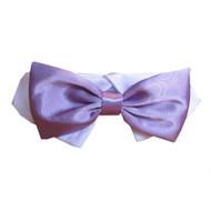 Lavender Satin Dog Bow Tie