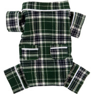 Green Flannel Dog Pajamas