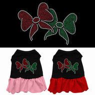 Christmas Bows Dog Dress