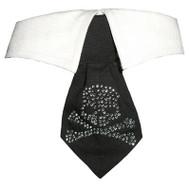 Crossbone Crystal Dog Shirt Collar