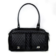 Marlee Black Quilted Dog Carrier