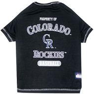 Colorado Rockies Baseball Dog Shirt