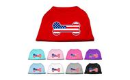 Bone Shaped American Flag Dog Shirts