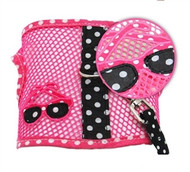 Sunglasses Pink and Black Cool Mesh Velcro Harness with Matching Leash
