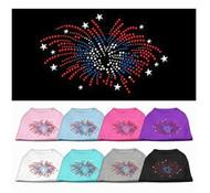 Fireworks Rhinestone Dog Shirt