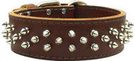Brutus Leather Dog Collar- Brown