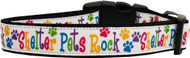 Shelter Pets Rock Nylon Ribbon Dog Collar