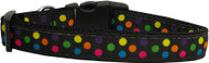 Black Multi Dot Dog Collar