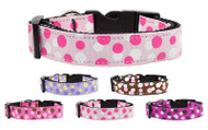 Confetti Dots Nylon Dog Collar