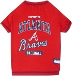 Atlanta Braves Baseball Dog Shirt