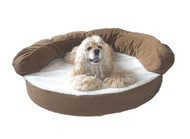 Chocolate Ortho Sleeper Bolster Dog Bed