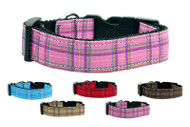 Plaid Nylon Dog Collar