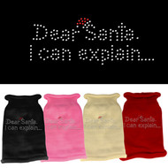 Dear Santa... Rhinestone Sweater (Various Colors)