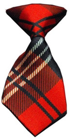 Red Plaid Dog Neck Tie