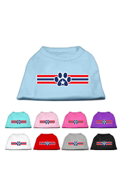 Patriotic Star Paw Dog Shirts
