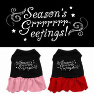 Season's Greetings Dog Dress