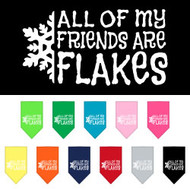 All My Friends are Flakes Christmas Dog Bandana