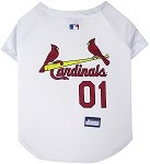 St. Louis Cardinals Baseball Dog Jersey